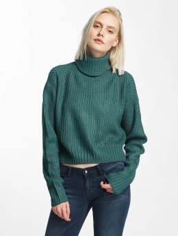 Urban Classics Frauen Pullover Turtleneck in türkis