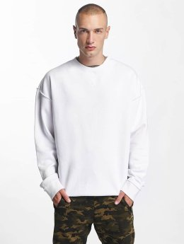 Urban Classics Pullover Oversized Open Edge weiß