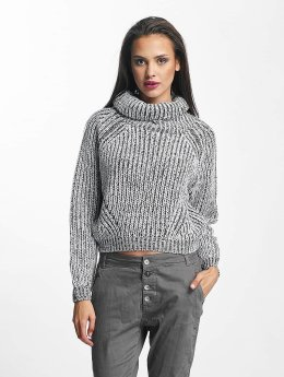 Urban Classics Frauen Pullover Short Turtleneck in weiß