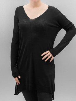 Urban Classics Puserot Ladies Fine Knit Oversize V-Neck musta