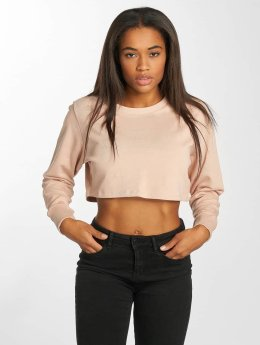 Terry Cropped Sweatshirt Light Rose