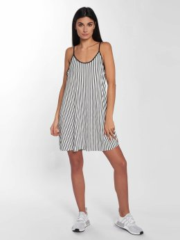 Urban Classics Robe Striped Pleated Slip blanc