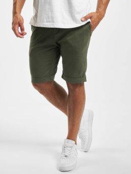 Urban Classics shorts Stretch Turnup Chino olijfgroen