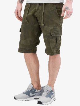 Urban Classics shorts Camo Cargo olijfgroen