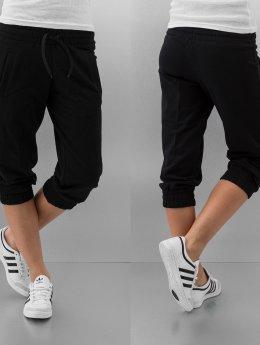 Urban Classics shorts Ladies French Terry Capri zwart