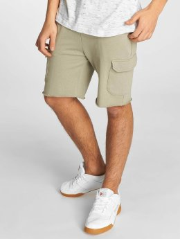 Urban Classics Shortsit Open Edge Terry Cargo oliivi