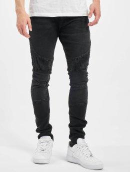 Urban Classics Skinny Jeans Slim Fit Biker čern