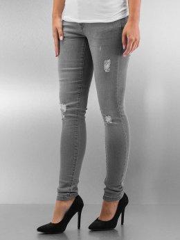 Urban Classics Skinny Jeans Ripped Denim grau