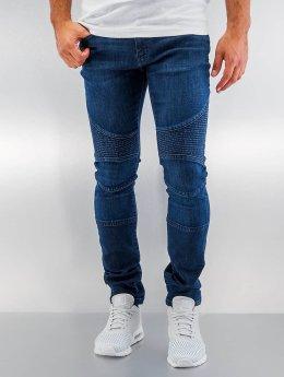 Urban Classics Skinny Jeans Slim Fit Biker modrý