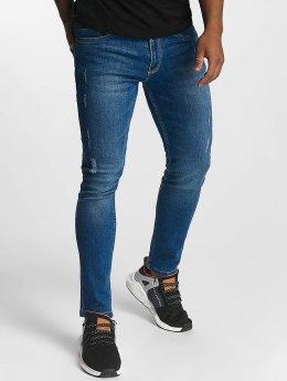 Urban Classics Skinny Jeans Ripped modrý