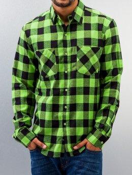Urban Classics Skjorta Checked Flanell grön