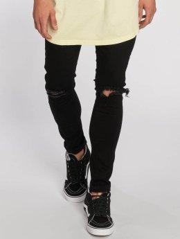 Urban Classics Slim Fit Jeans Knee Cut svart