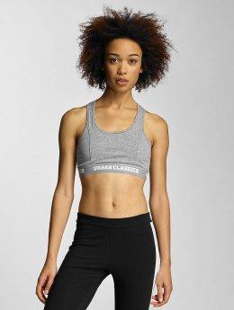 Urban Classics Soutiens-gorge de sport Ladies Logo gris