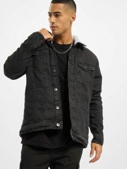 Urban Classics Spijkerjasjes Sherpa zwart