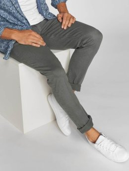 Urban Classics Straight Fit Jeans Basic Twill 5 Stretch grau