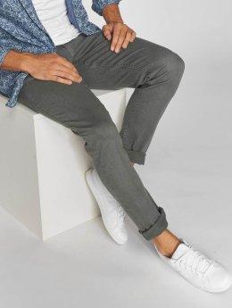 Urban Classics Straight fit jeans Basic Twill 5 Stretch grijs