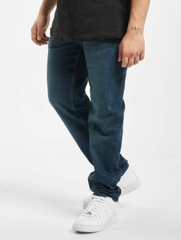 Urban Classics Straight Fit Jeans Stretch Denim modrý