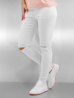 Urban Classics Frauen Straight Fit Jeans Ladies Cut Knee in weiß