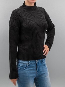 Urban Classics Sweat & Pull Ladies Short Turtleneck noir