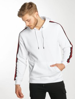 Urban Classics Sweat capuche Stripe blanc