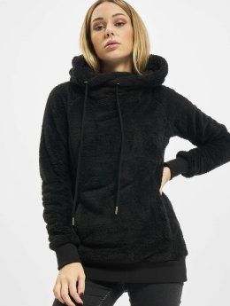 Urban Classics Sweat capuche Long Teddy noir