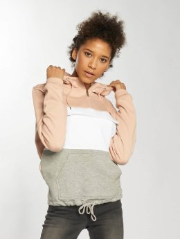 Urban Classics Sweat capuche Color Block rose