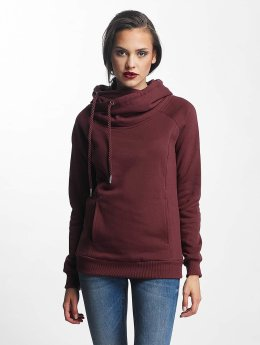 Urban Classics Sweat capuche Raglan High Neck rouge