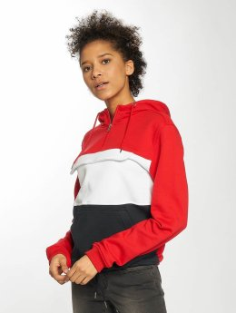 Urban Classics Sweat capuche Color Block rouge