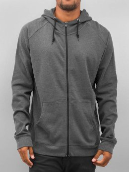Urban Classics Sweat capuche zippé Heavy Interlock gris