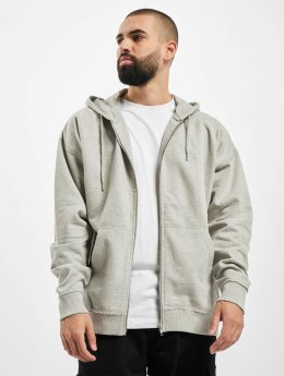 Urban Classics Sweat capuche zippé Oversized gris