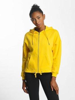 Urban Classics   Kimono  jaune Femme Sweat capuche zippé