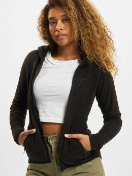 Urban Classics Sweat capuche zippé Polar Fleece noir