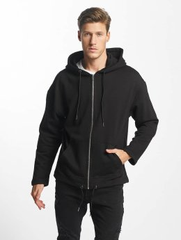 Urban Classics Sweat capuche zippé Long noir