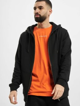 Urban Classics Sweat capuche zippé Basic noir