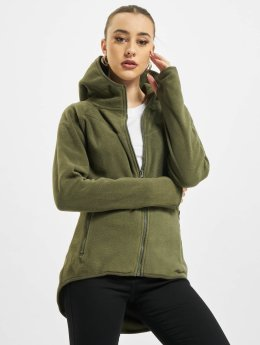 Urban Classics Sweat capuche zippé Polar Fleece olive