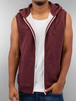 Urban Classics Sweat capuche zippé Melange Hooded rouge