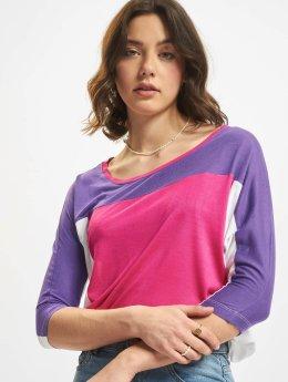 Urban Classics T-paidat 3 Tone 3/4 Sleeve purpuranpunainen