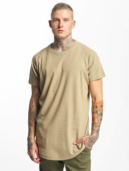 Urban Classics T-Shirt Thermal Slub Raglan Oversized beige