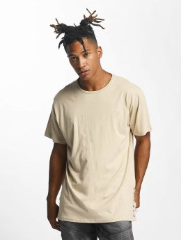 Urban Classics T-Shirt Lace Up Long beige