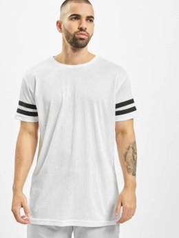 Urban Classics T-shirt Stripe Mesh bianco