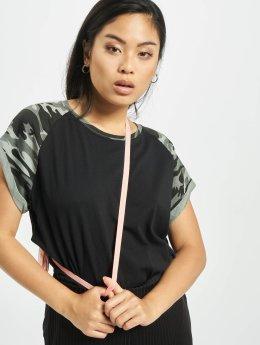 Urban Classics T-Shirt Contrast Raglan black