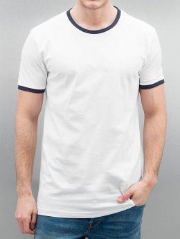 Urban Classics T-Shirt Ringer blanc