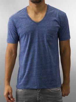 Urban Classics T-Shirt Melange Pocket blau