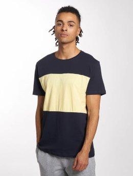 Urban Classics T-Shirt Contrast Panel blau