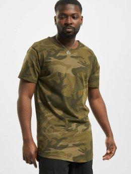 Urban Classics T-Shirt Camo Shaped Long  camouflage