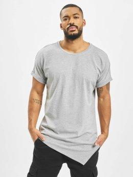 Urban Classics T-shirt Asymetric Long grå