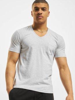 Urban Classics T-Shirt Melange Pocket grau