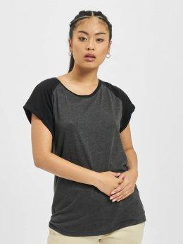Urban Classics T-Shirt Contrast Raglan grau