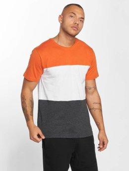 Urban Classics T-Shirt Color Block grau