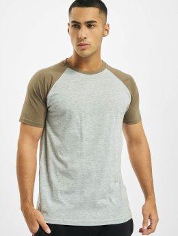 Urban Classics / t-shirt Raglan Contrast in grijs